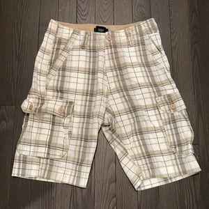 🍄2/$30🍄 Suko Cargo Plaid Shorts Size 30